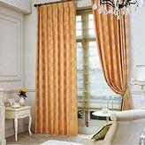 オレンジのリビングカーテン