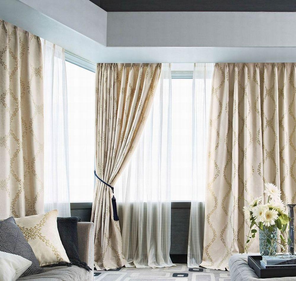 fd52001 (オーナメントのデザインが美しいカーテン) | お洒落な