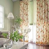 花柄リビングカーテン me2143